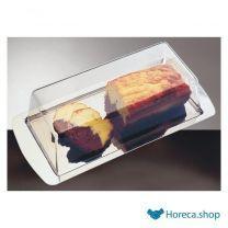 Cake serveerschaal rvs met luchtdichte deksel, 34×16,5