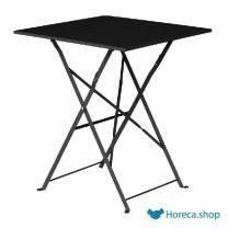 Vierkante opklapbare stalen tafel zwart 60cm