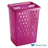 Wasmand 40 liter roze